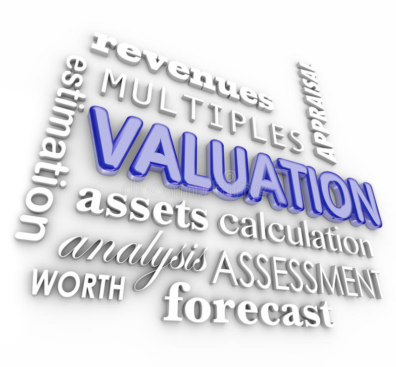 Valuation 3d Word Collage Multiples Revenues Assets Company Business - business net worth