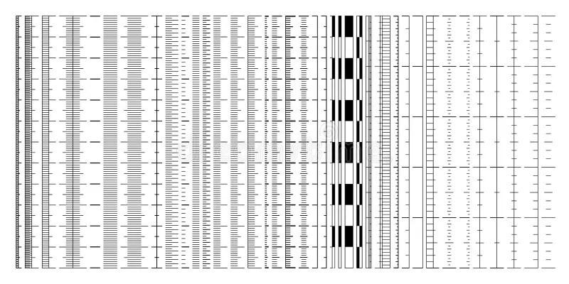 Various Ruler Scales, Size Indicators, Measurement Charts Stock - measurement charts