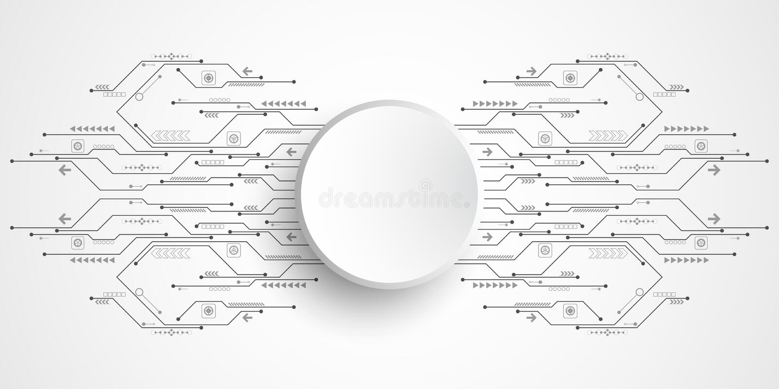 Vector Abstract Background Technology Circuit Design Stock Vector - circuit design background