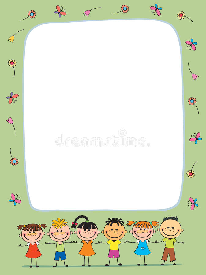 Vector Background Blank With Kids Summer Camp Stock Vector - blank brochure templates for kids