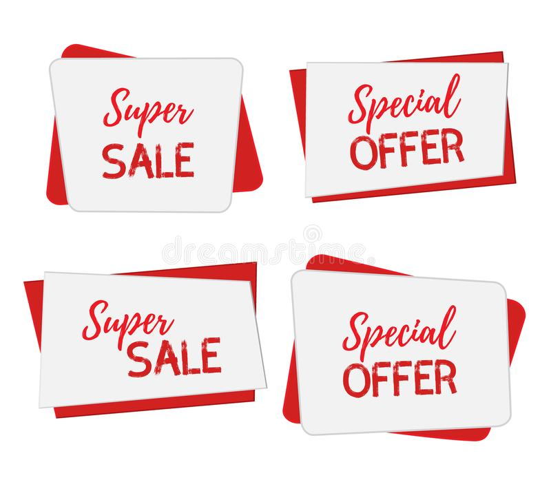 Vector Banners For Sale, Special Offers Posters For Internet, Web - for sale template