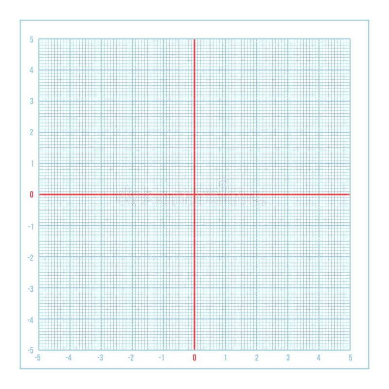 Vector Blue Metric Graph Paper With Coordinate Axis Stock Vector - graph paper with axis