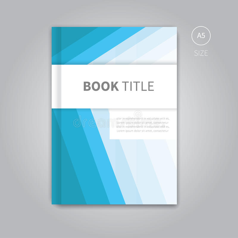 Vector Book Cover Template Design Stock Vector - Illustration of