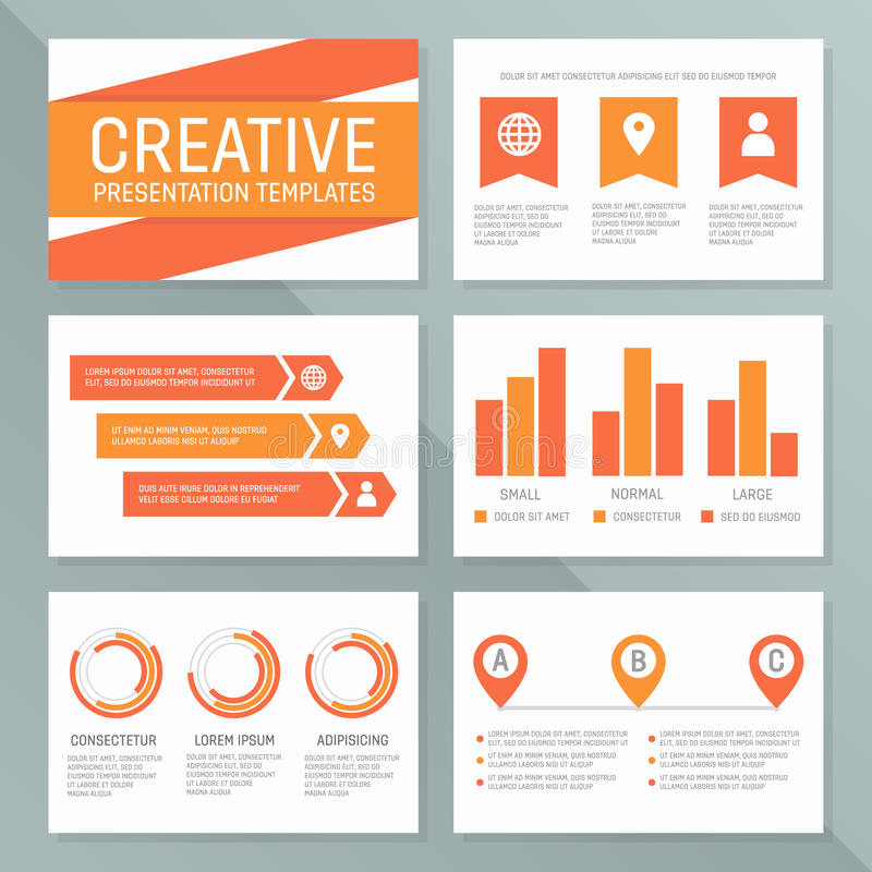 Vector Business Presentation Template Set Graph And Chart Elements - graph chart templates