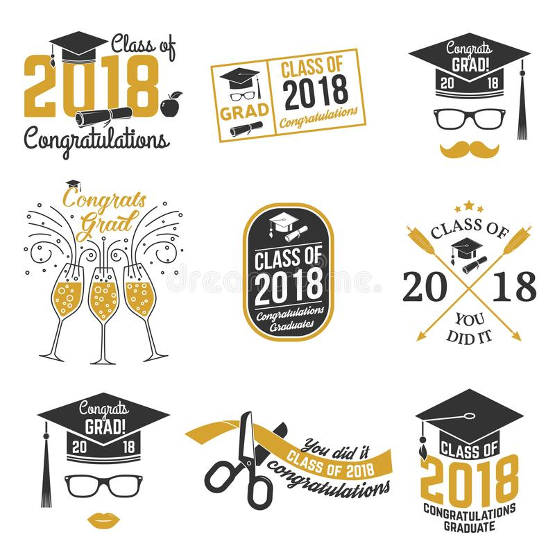 Vector Class Of 2018 Badge Stock Vector - Illustration of design