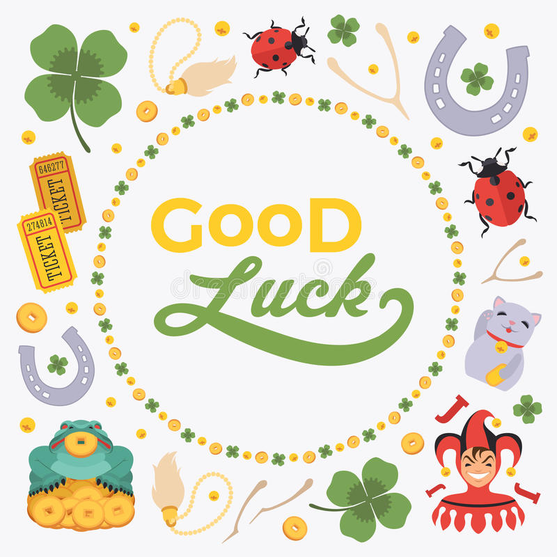 Vector Decorating Design Made Of Lucky Charms, And Stock Vector - good luck card template