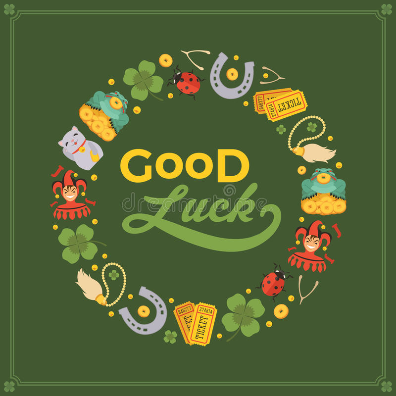 Vector Decorating Design Made Of Lucky Charms Stock Vector - good luck card template