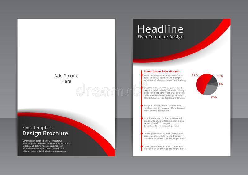 Vector Design Of The Black And White Flyer, Cover, Brochure, Poster - black and white flyer template