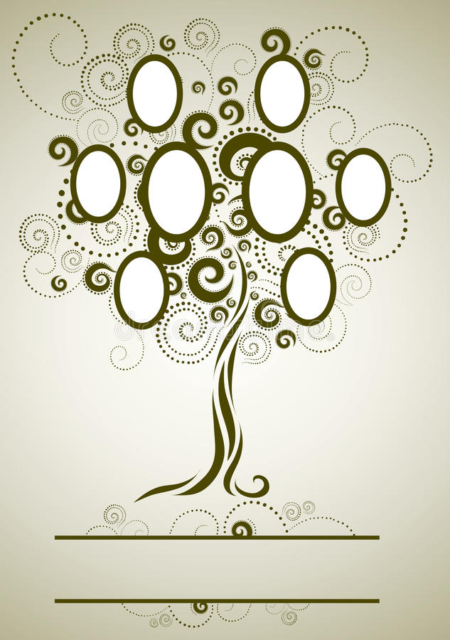 Vector Family Tree Design With Frames Stock Vector - Illustration of