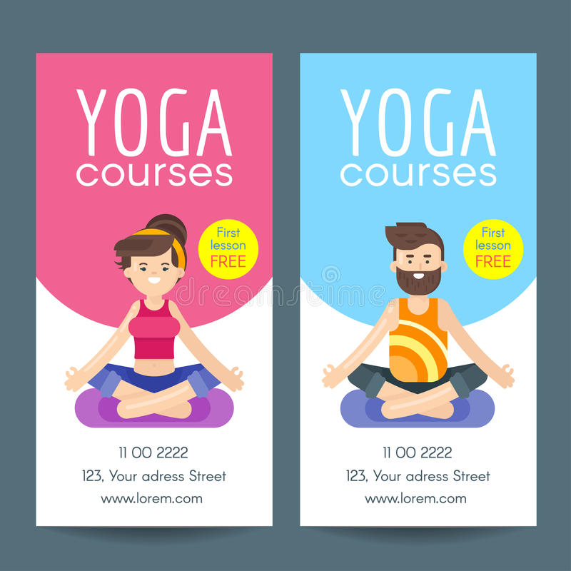 Vector Flat Style Design Template For Yoga Flyer Stock Vector - yoga flyer
