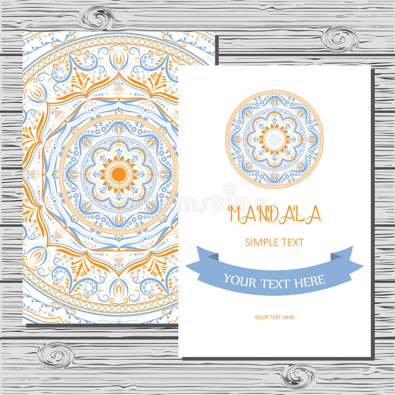 Vector Flyer Template With Hand Drawn Mandala Stock Vector - Flyer Outline