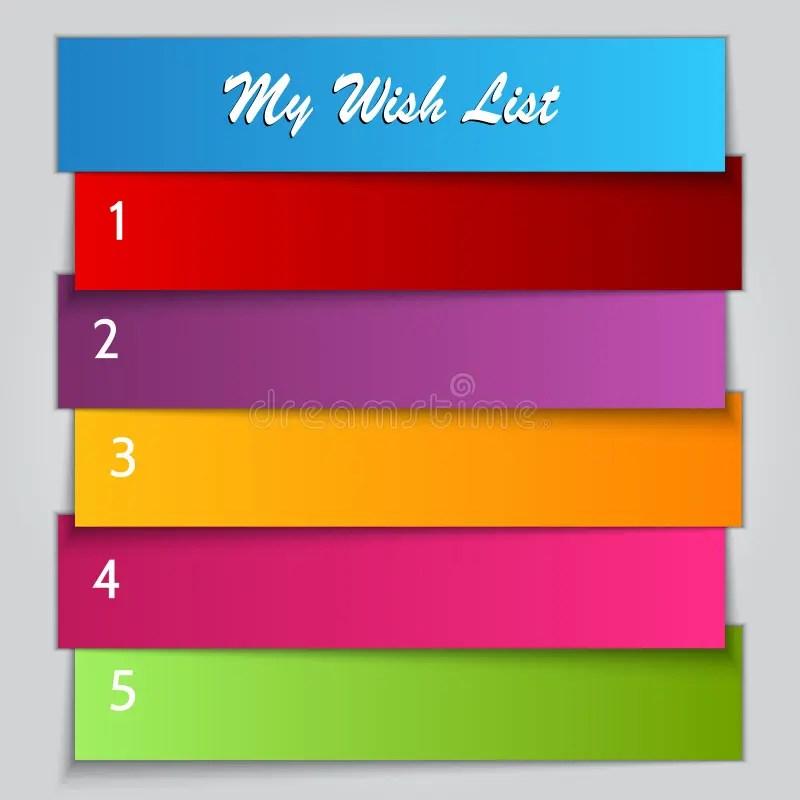 Vector Gift Wish List Template Stock Vector - Illustration of blue - birthday list template