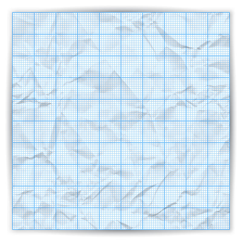 Vector Graph Grid Paper Background With Variable Stock Vector