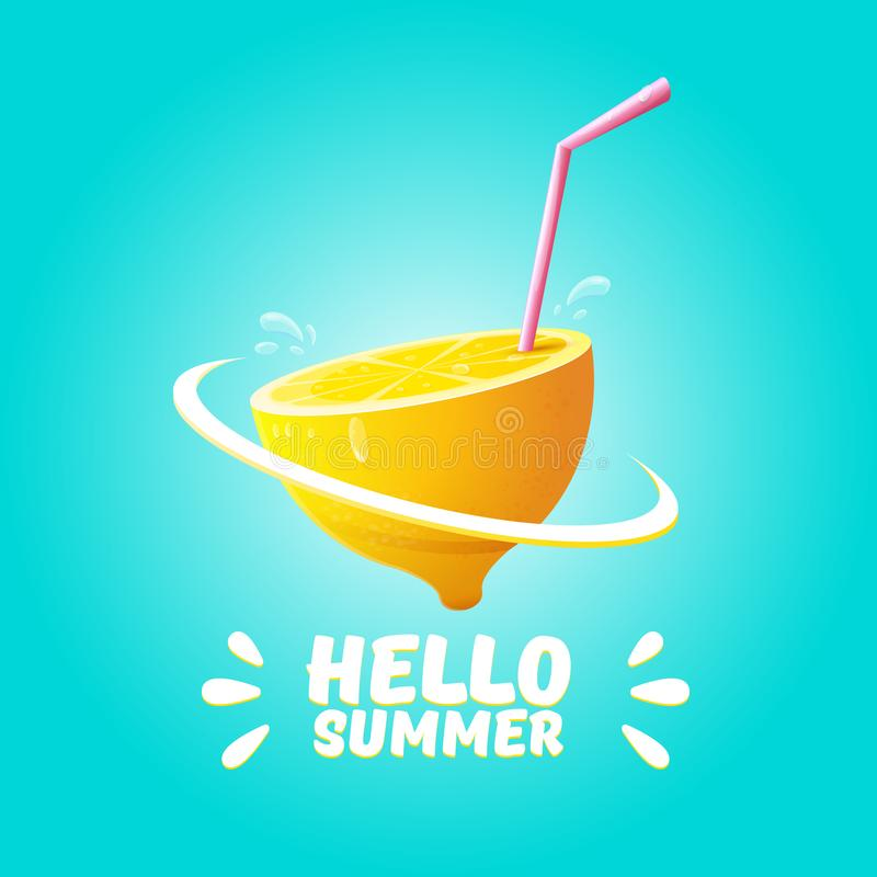 Vector Hello Summer Beach Party Flyer Design Template With Fresh