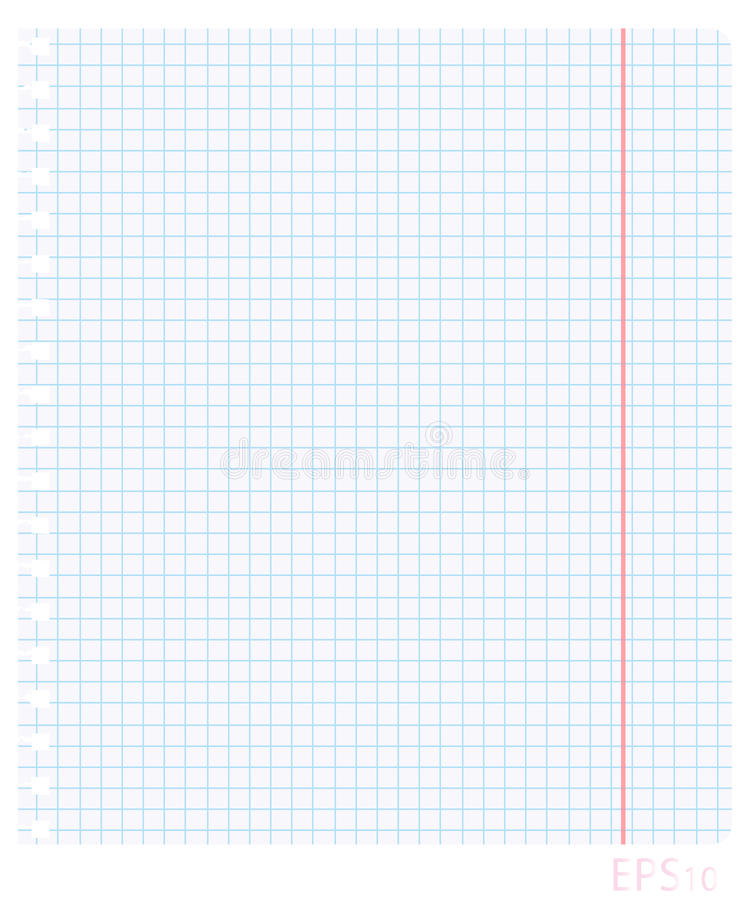 Vector Illustration Of A Blank Sheet Of Paper In The Box With The - blank sheet of paper with lines