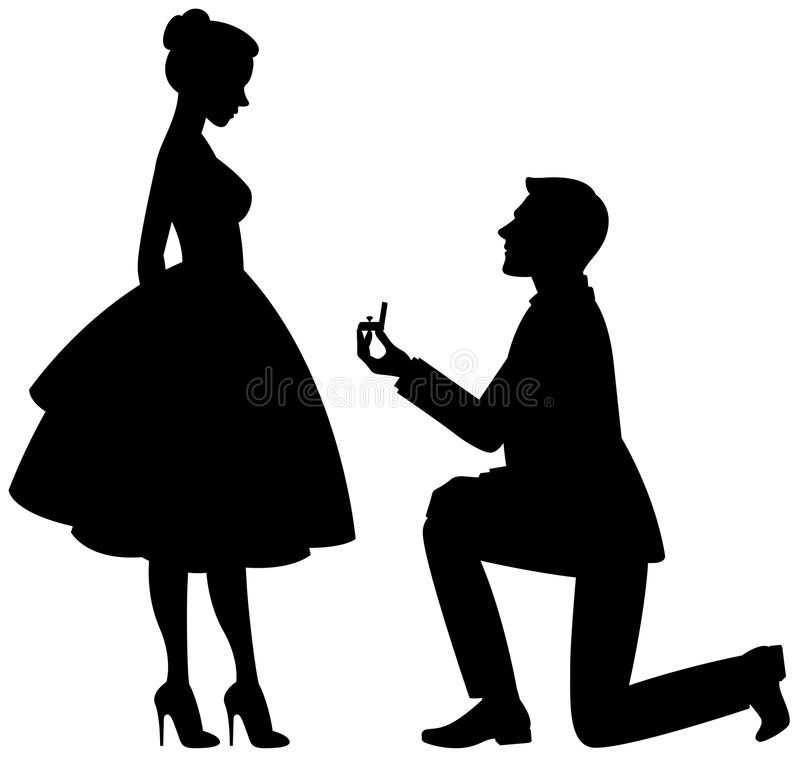 Boy Proposing Girl Hd Wallpaper Vector Illustration A Man On His Knees Makes A Proposal