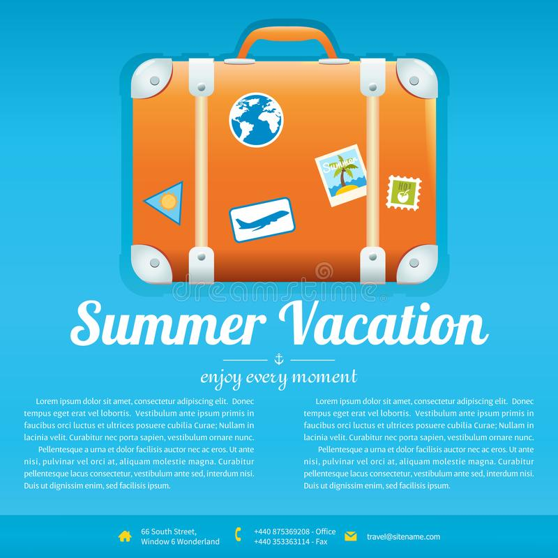 Vector Illustration Of Travel Suitcase Stock Vector - Illustration - vacation brochure template