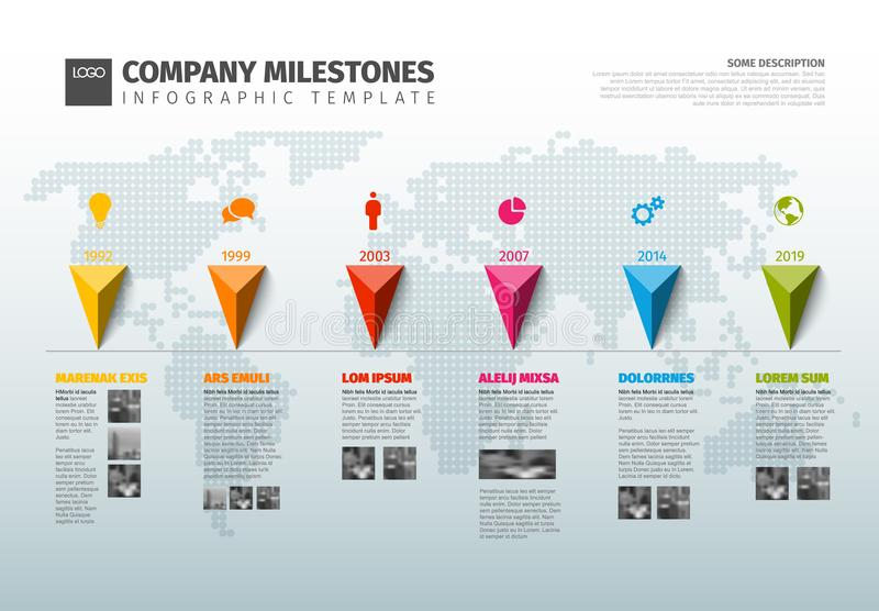 Vector Infographic Company History Timeline Template Stock Vector