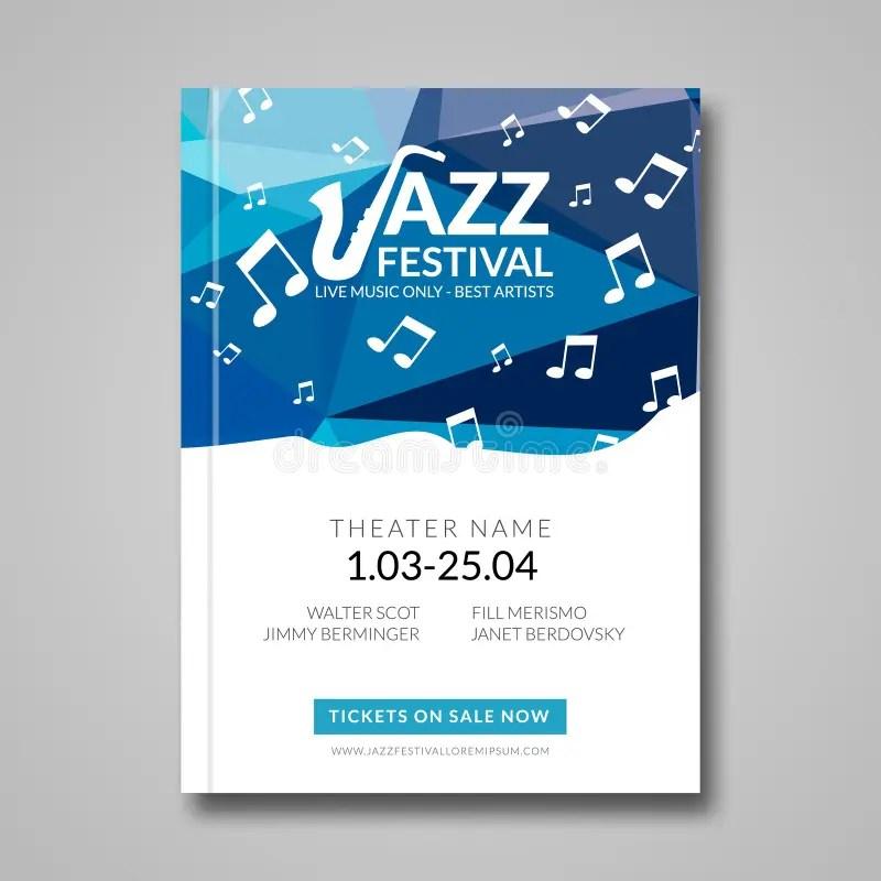 Vector Musical Flyer Jazz Festival Music Background Festival - music brochure