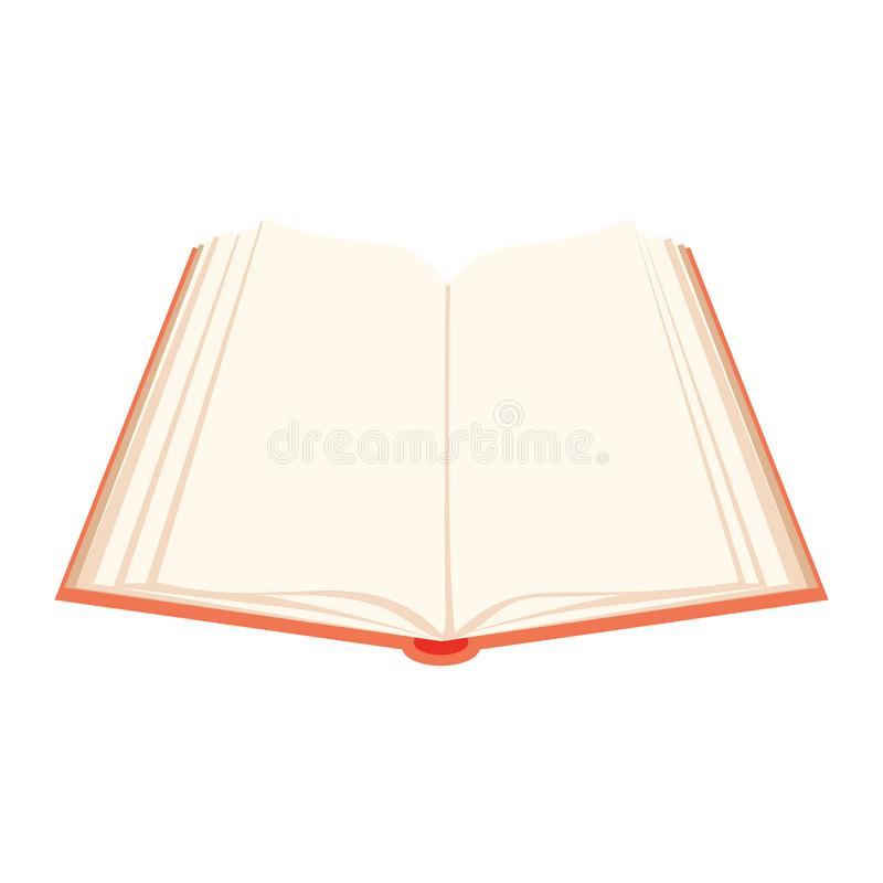 Vector Open Book Red Covered Opened Book With Pages Fluttering - opened book