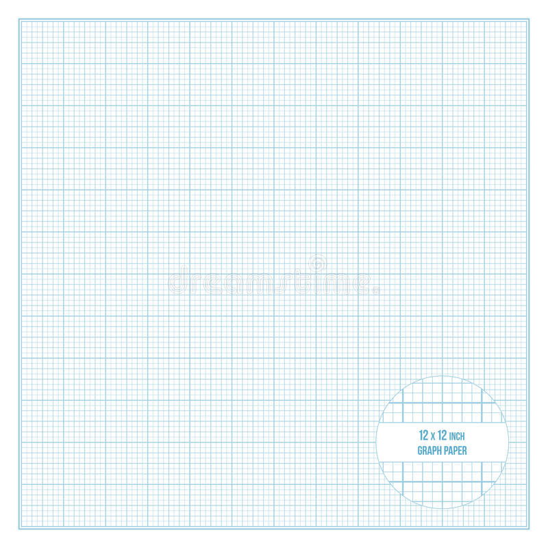 Vector Printable Graph Paper 12x12 Inch Size Stock Vector
