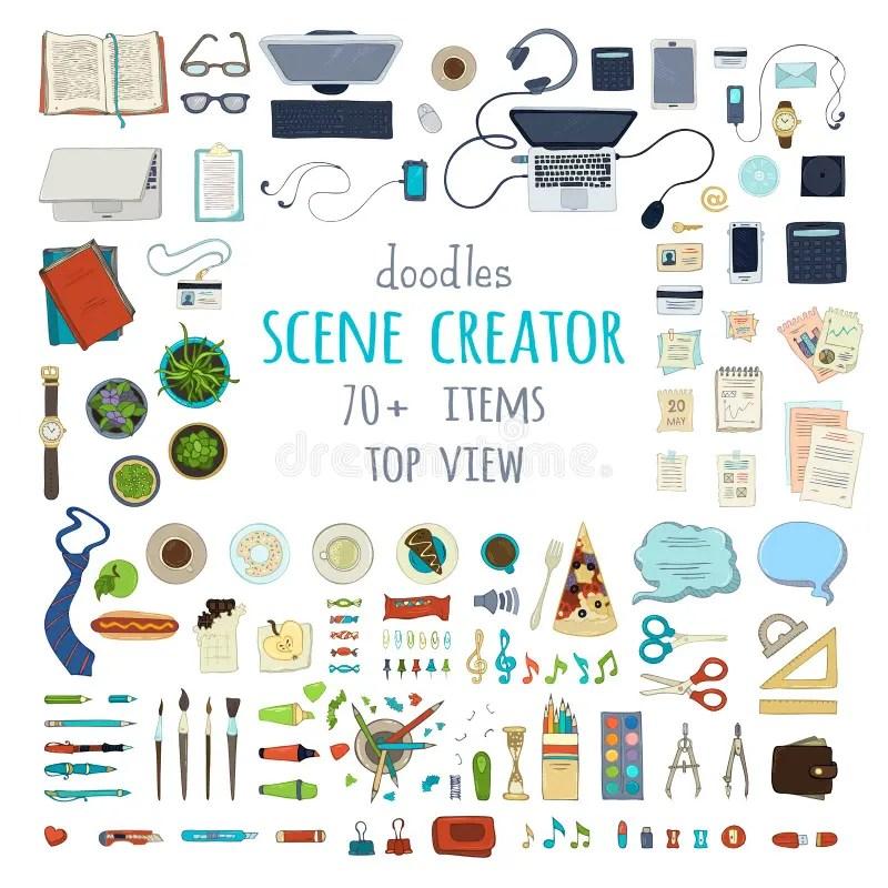 Vector scene creator set stock vector Illustration of background - work schedule creator free