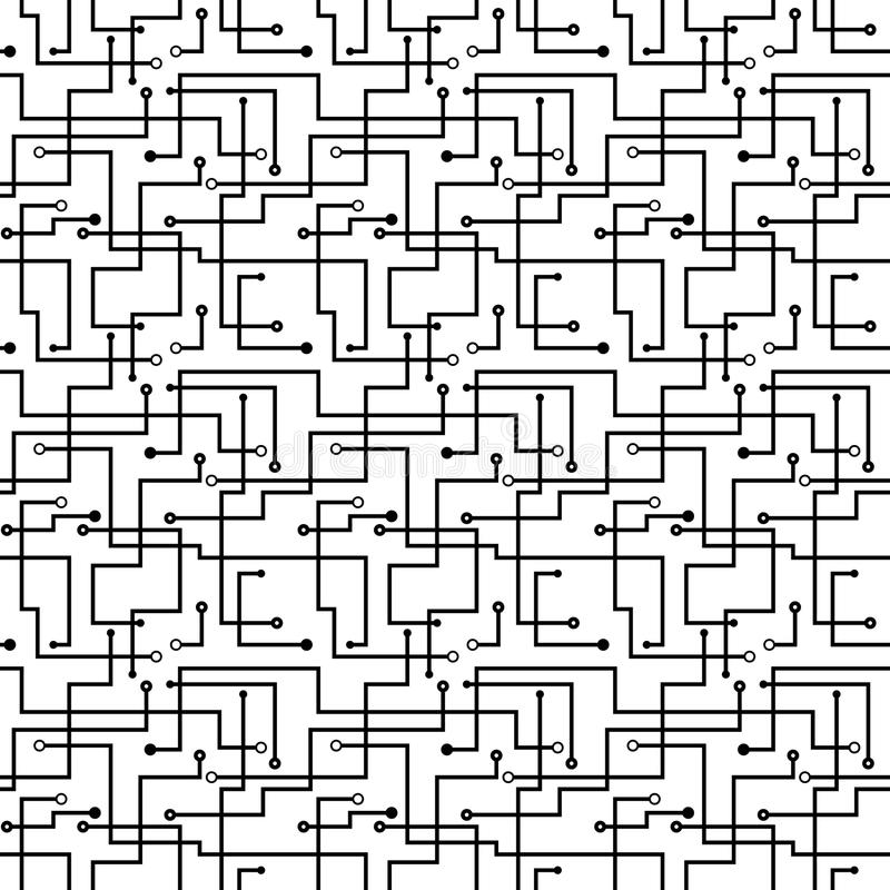 seamless pattern computer circuit board design