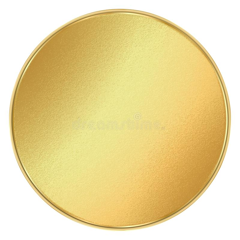 Vector Shiny Round Blank Template For Coins, Medals, Buttons, Gold - gold medal templates