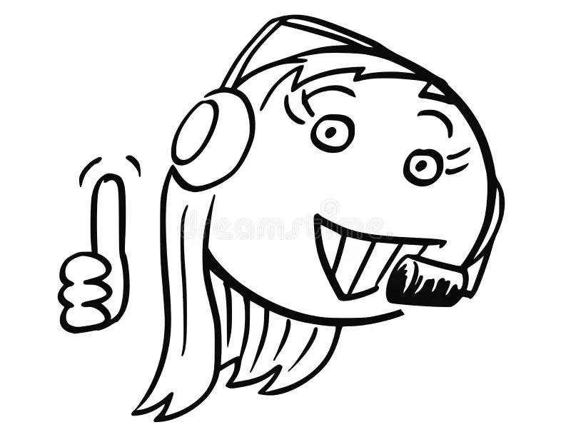 Vector Stick Man Cartoon Of Female Customer Support Service Stock