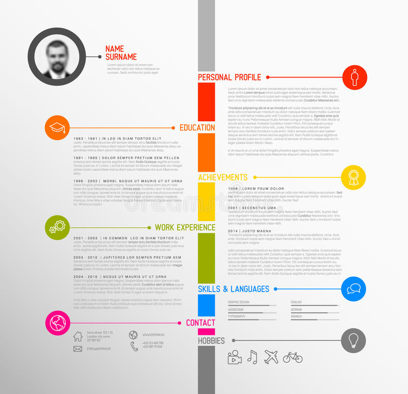 template cv infographie