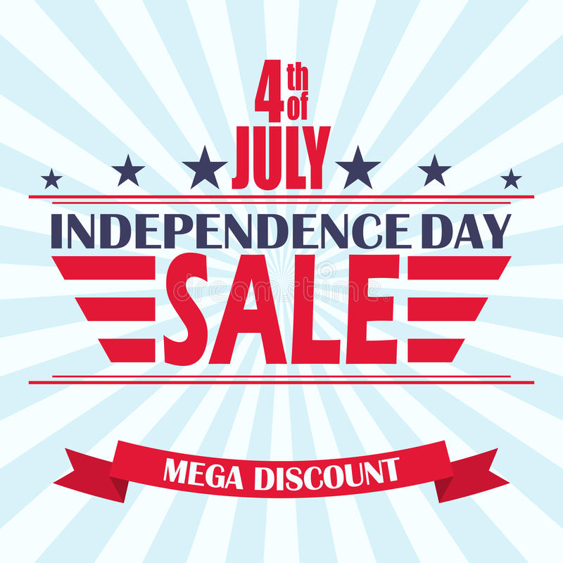 Vector USA Independence Day Sale Background Design Template For 4th