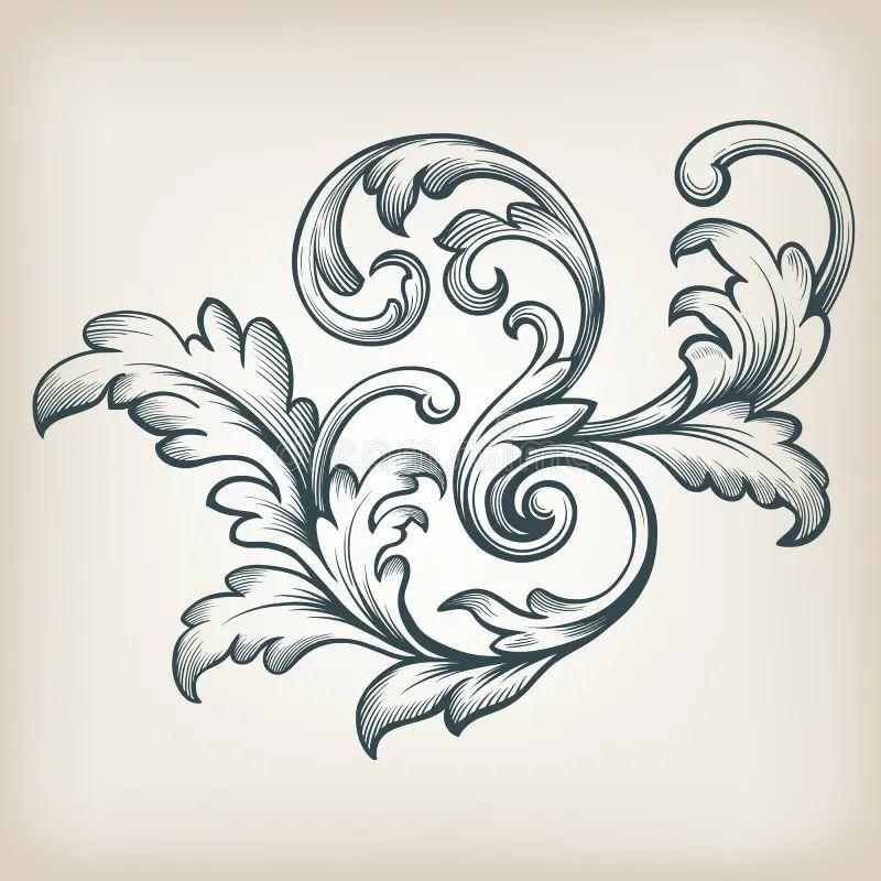 baroque floral design