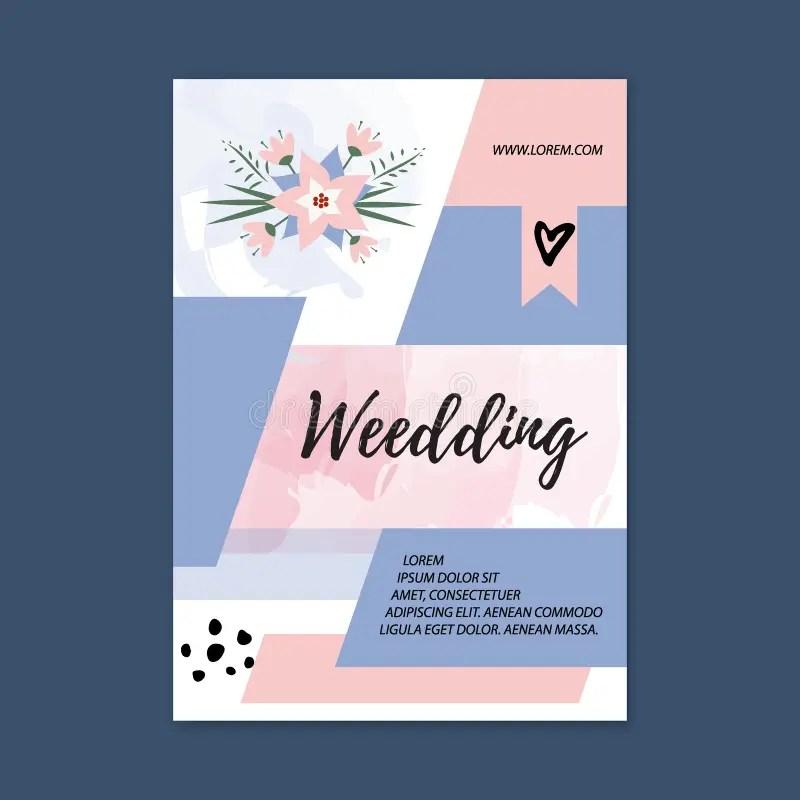 Vector Wedding Brochure Blank Template Front Page And Back Page - wedding brochure template