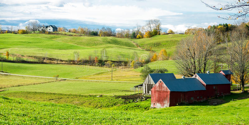 New England Fall Desktop Wallpaper Vermont Scenic Farm Land Royalty Free Stock Images Image