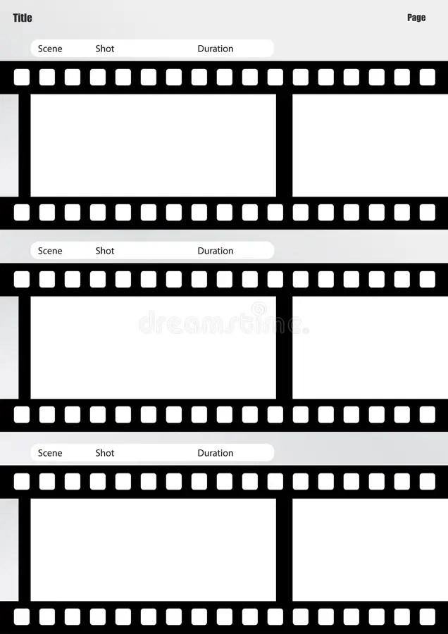 Vertical Do Molde Do Filme Do Storyboard Ilustração Stock - Imagem - vertical storyboard