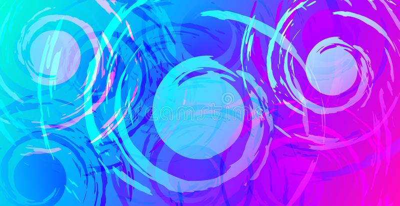 Vetor Abstract Spirals Banner Background Design Stock Vector