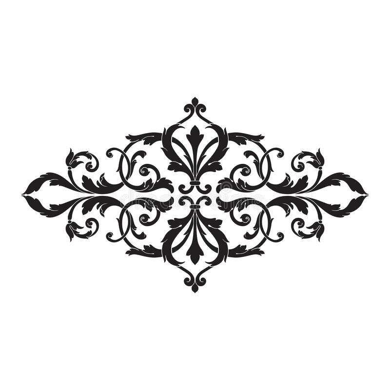 Vintage Baroque Frame Engraving Scroll Ornament Stock Vector - baroque scroll designs
