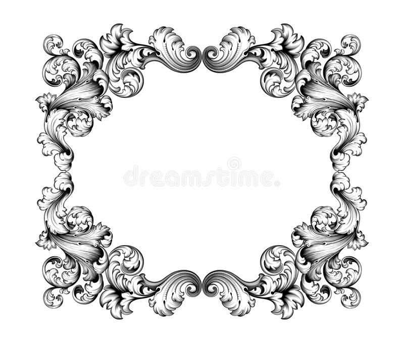 Baroque Frame Tattoo Download Vintage Baroque Victorian Frame Border - baroque scroll designs