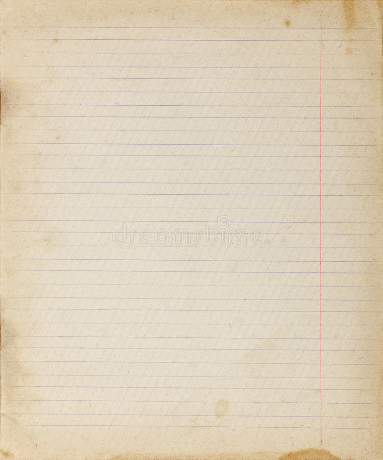 Vintage Lined Paper Background Stock Image - Image of stained - line paper background