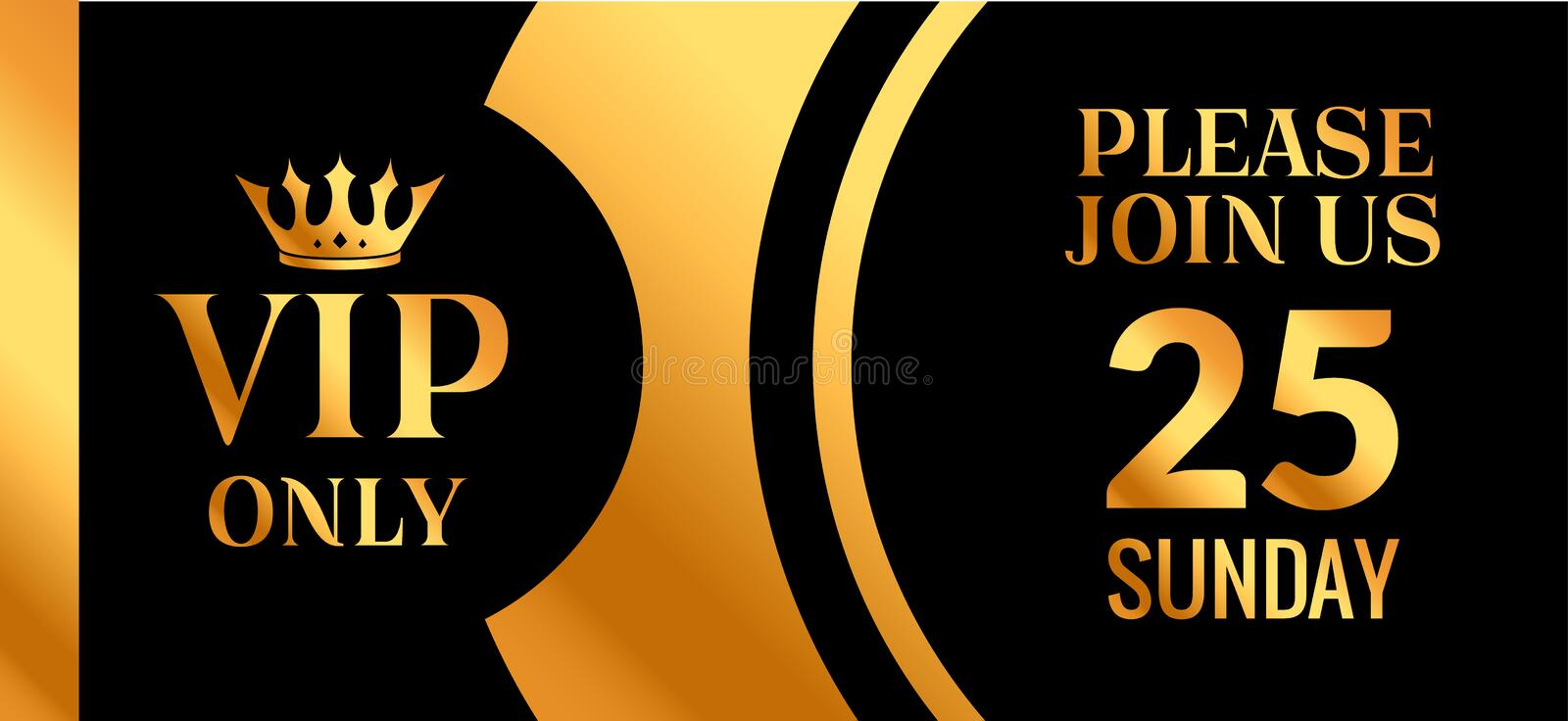 VIP Party Premium Golden Invitation Card Design Quilted Party - club card design