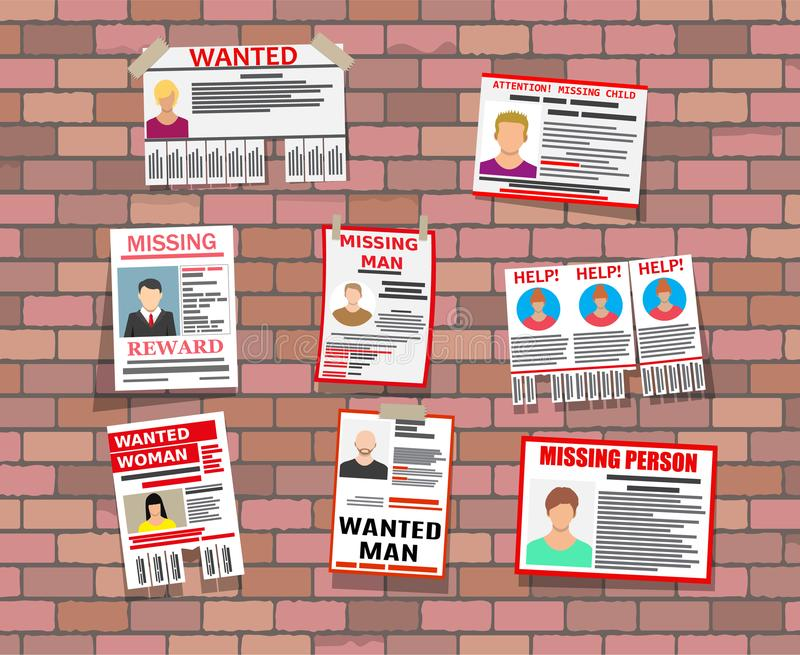 Wanted Person Paper Poster Missing Announce Stock Vector - lost person poster