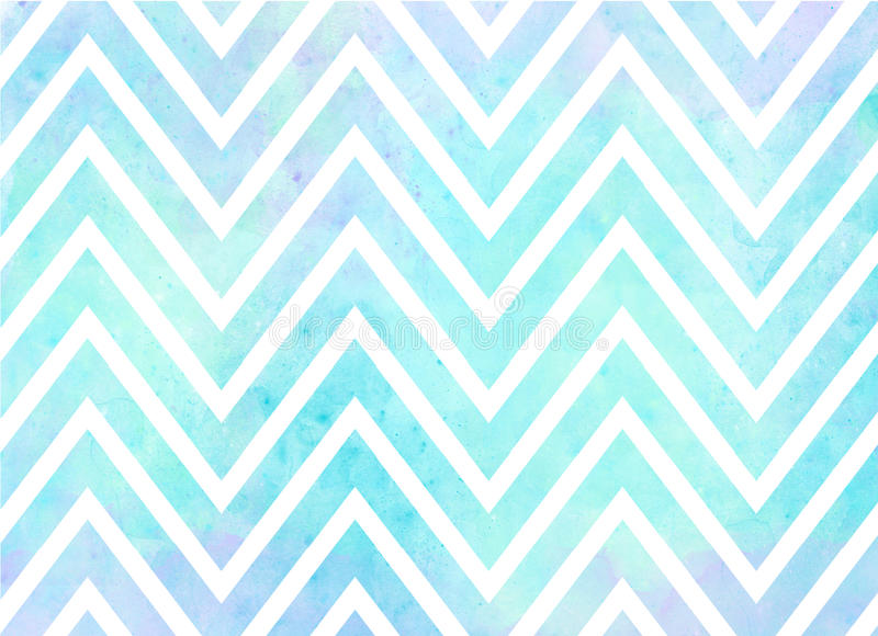 Watercolor Chevron Stripes Background Pattern Stock Illustration