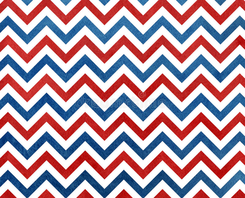 Watercolor Dark Blue And Red Stripes Background, Chevron Stock