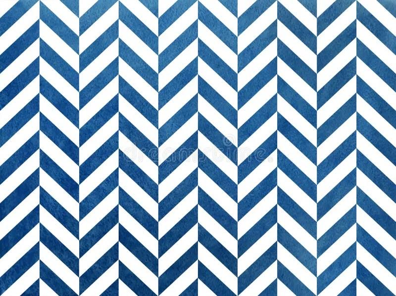 Watercolor Dark Blue Stripes Background, Chevron Stock Illustration