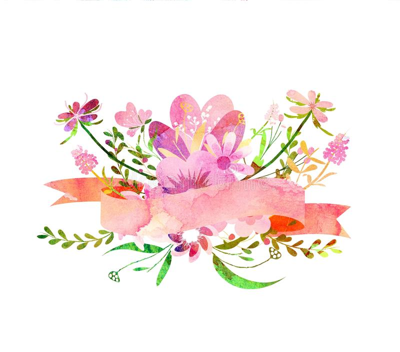Orange Fall Peony Wallpaper Watercolor Flowers Cute Floral Bouquet Stock Illustration