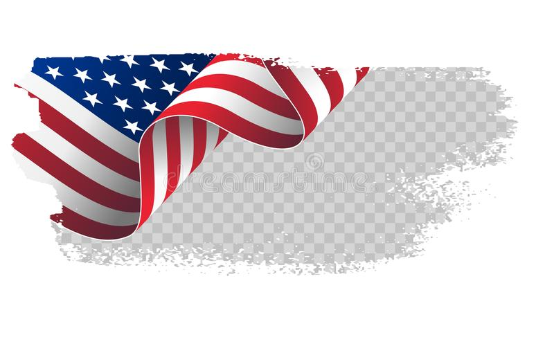 Waving Flag United States Of America Illustration Wavy American - America Flag Background