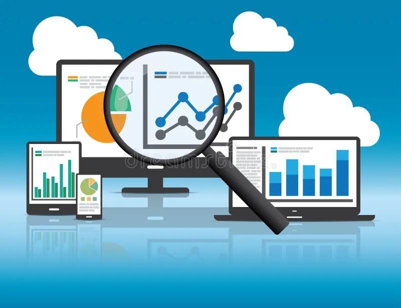 Website Analytics And SEO Data Analysis Concept Stock Vector