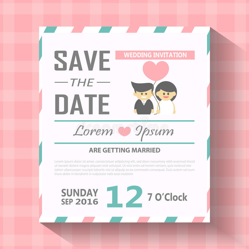Wedding Invitation Card Template Vector Illustration, Wedding - wedding card template