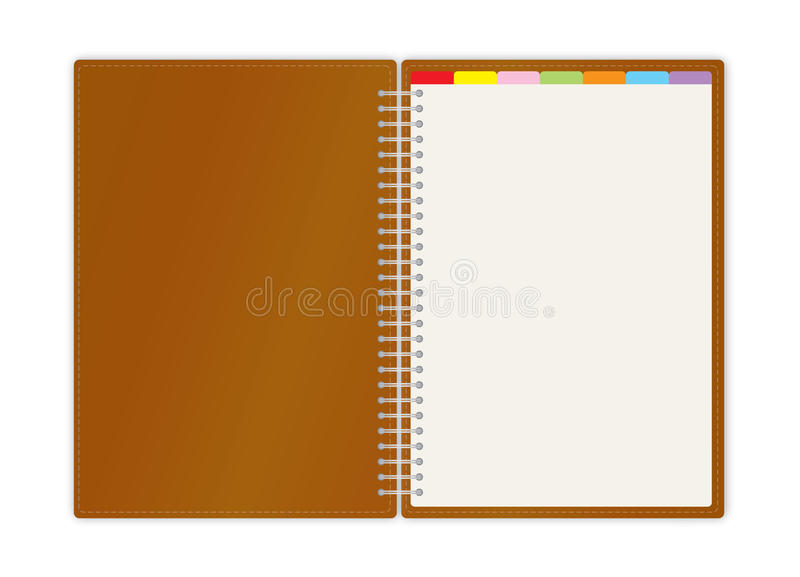Weekly Business Project Planner Book Stock Vector - Illustration of