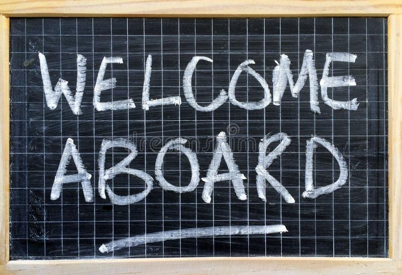 Welcome Aboard Notice stock photo Image of chalk, opportunity - welcoming messages for new employees